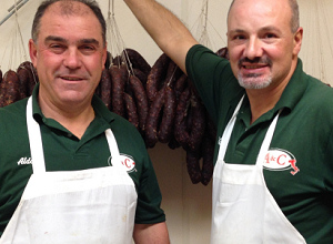 Aldo & Claudio of A & C Pork Store in Paterson NJ